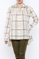 Free People Peppy Plaid Top