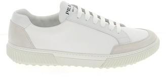 Prada Logo Embossed Low-Top Sneakers