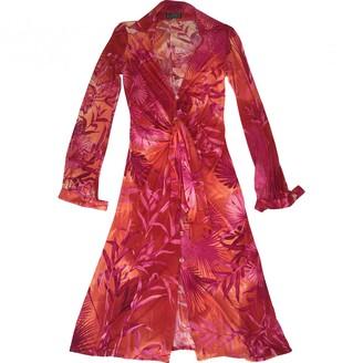 Gianni Versace Pink Silk Dress for Women Vintage