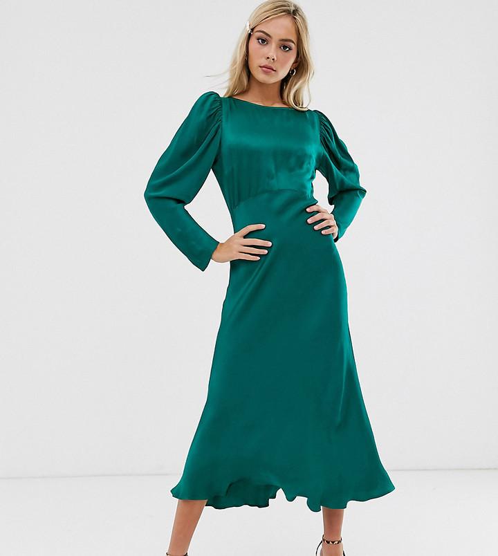 Ghost exclusive Rosaleen long sleeve midi dress