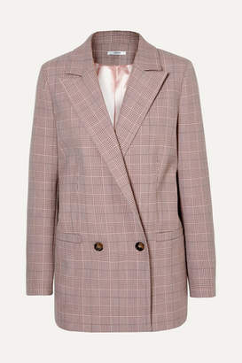 Ganni Checked Cady Blazer - Blush