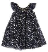 Zunie Little Girl's Ruffled Neck Dress