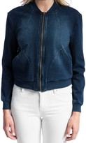 Liverpool Jeans Company Women's Denim Knit Bomber Jacket