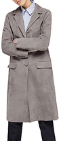 Gerard Darel Gwyneth Suede Leather Coat, Grey