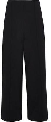 Oscar de la Renta Cropped Pintucked Wool-blend Wide-leg Pants