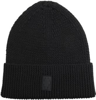 Marcelo Burlon County of Milan Cross Patch Knit Wool Blend Beanie Hat