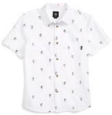 Vans Boy's X Peanuts Houser Print Woven Shirt
