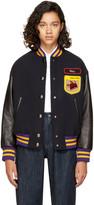 Miu Miu Navy Fox and Roy Varsity Jacket