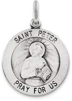1928 Gold and Watches Sterling Silver Antiqued Saint Peter Medal