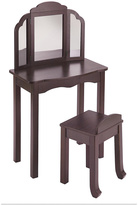 Guidecraft Expressions Vanity and Stool Espresso
