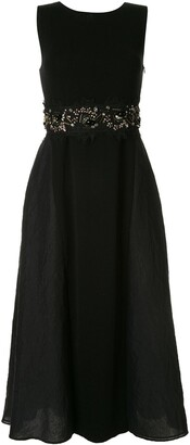Onefifteen beads and lace embroidered midi dress