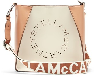 Stella McCartney Stella Small Bicolour Faux-leather Cross-body Bag - White Multi