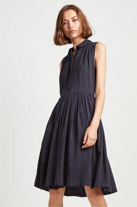French Connection Enya Drape Cotton Shirt Dress