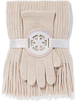 New York & Co. 2-Piece Textured Scarf & Gloves Set