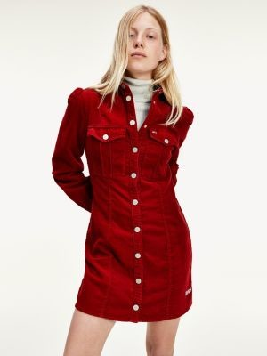 Tommy Hilfiger Corduroy Fitted Shirt Dress