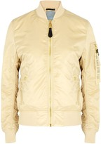 Thumbnail for your product : Alpha Industries MA-1 VF sand nylon bomber jacket
