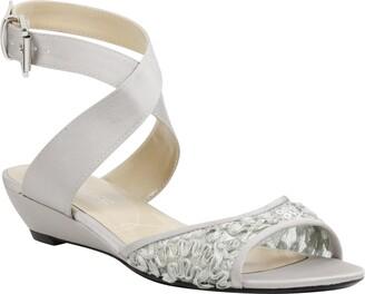 J. Renee Belden Silver Wedge Sandal - Wide Width Available