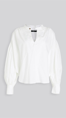 Bassike Cotton Gathered Ovrsized Shirt