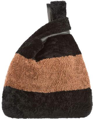 Simonetta Ravizza Furrissima Striped Shearling Fur Tote Bag
