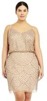 Adrianna Papell Sequin Blouson Dress.