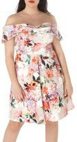 Dorothy Perkins Plus Size Women's Off The Shoulder Dress