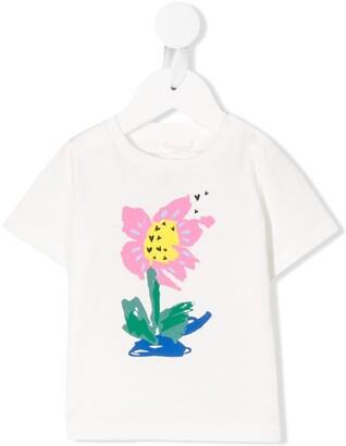 Stella McCartney painted flower print T-shirt