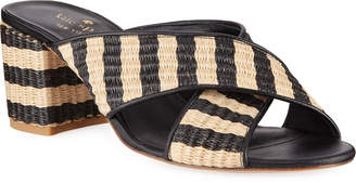 Kate Spade Walter Raffia Slide Sandals