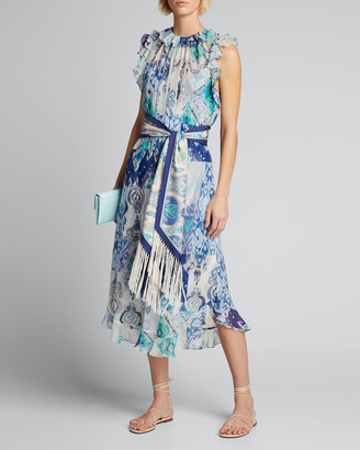 Zimmermann Glassy Ruffle Sleeveless Dress