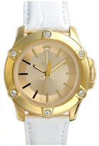 Juicy Couture Round Leather Strap Watch