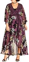 City Chic Burgundy Lily Maxi Dress