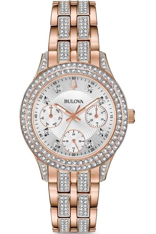 Bulova Ladies Crystal Watch 98N113