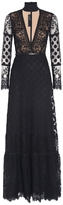 Elie Saab Black Lace Dress
