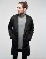 Religion Drop Shoulder Overcoat