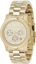 Michael Kors Women's Chronograph Runway Gold-Tone Stainless Steel Bracelet Watch 38mm MK5055