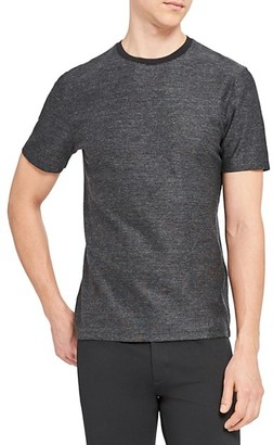 Theory Milan Standard-Fit Micro Grid Check T-Shirt