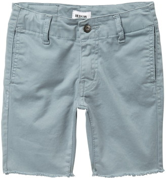 Hudson Raw Hem Stretch Twill Sateen Chino Shorts