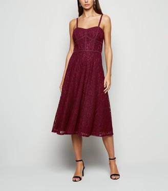 New Look Lace Strappy Midi Dress