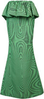 Mary Katrantzou Moire peplum maxi shirt - women - Silk/Polyamide - 8