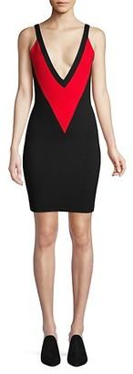 Victor Glemaud Sleeveless Colorblock Wool Dress