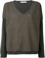 Fabiana Filippi contrast sweatshirt - women - Cotton/Polyester - 42