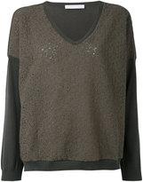 Fabiana Filippi contrast sweatshirt