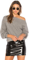 Theory One Shoulder Rib Sweater