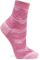 Missoni Metallic Crochet-knit Socks - Baby pink