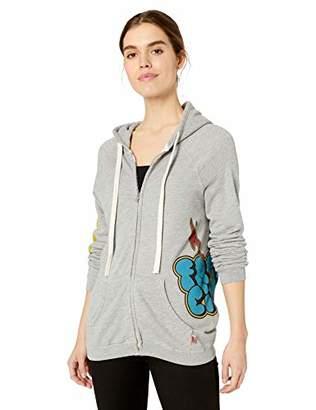 Freecity Women's lightningstrikes superflufflux Zip Hooded Sweatshirt