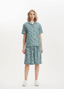 Libertine-Libertine Green and White Planet Shirt - cotton | Green and White | xs