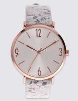 M&S Collection Round Face Pattern Strap Watch