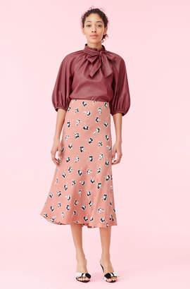 Rebecca Taylor Ikat Paintbrush Silk Jacquard Skirt