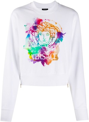 Versace Medusa tie-dye sweatshirt