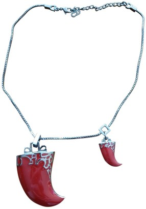 Christian Dior Red Metal Necklaces