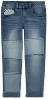 Arizona Roll-Cuff Boyfriend Cropped Jeans - Girls 7-16 and Plus